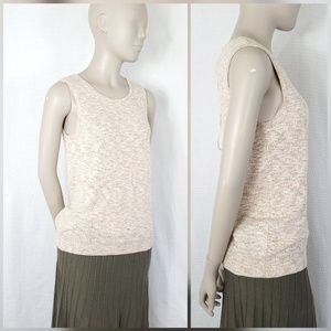 Bensimon Sleeveless Linen Blend Sweater Top - S